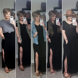5 Ways To Style A Black Maxi Dress